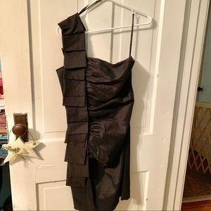 Jessica McClintock black prom dress 10
